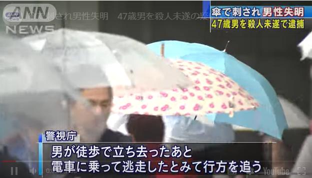 傘 で 目 を 突 かれ 失明